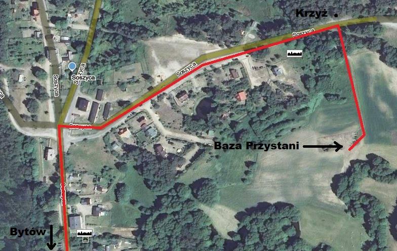 Soszyca - mapka dojazdu