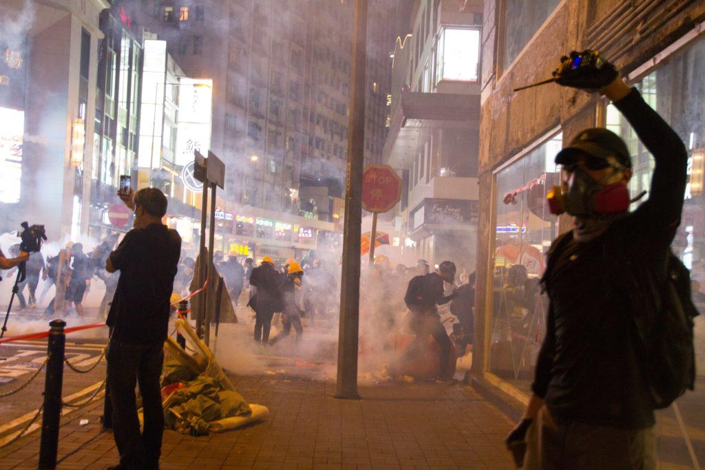 Zamieszki na ulicy